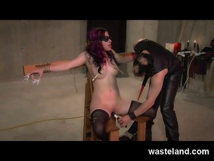 Pretty BDSM Submissive Blindfolded and Tied