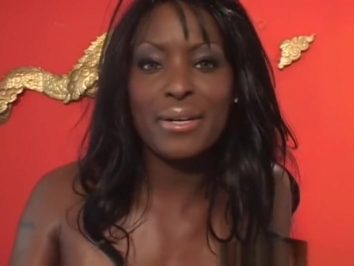 Hottest pornstar Chocolate Monroe in fabulous dp, interracial adult clip