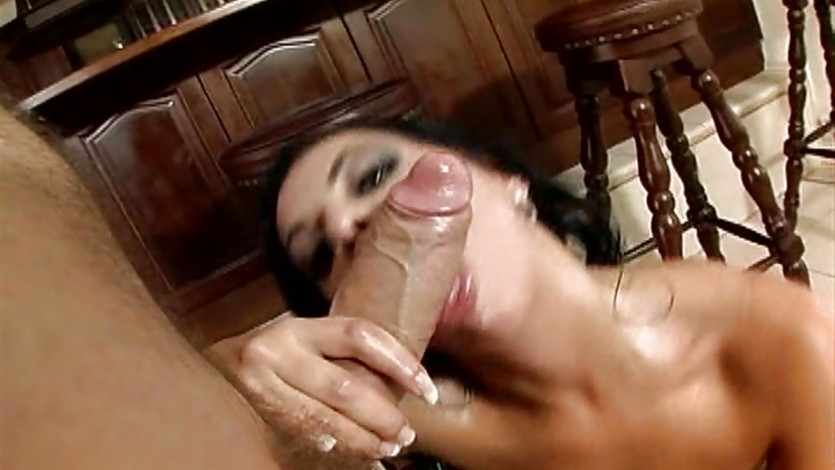 Big Bust Cory Everson fills her throat with a big dick