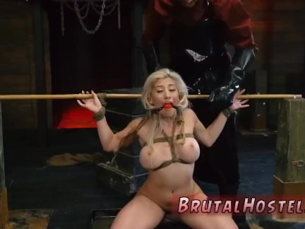 Crying pain bdsm Big-breasted blond