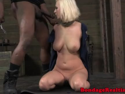 Cherry Torn bdsm sub deepthroats bbc